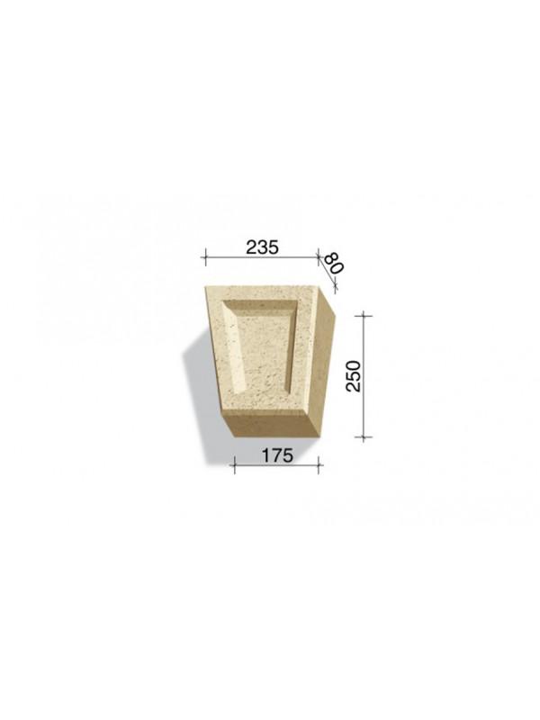 Замковый камень White Hills Тиволи 731-21, 250*235/175*80 мм
