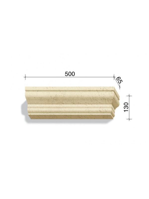 Угловой элемент для наличников и карнизов White Hills Тиволи 725-02, 500*65*130