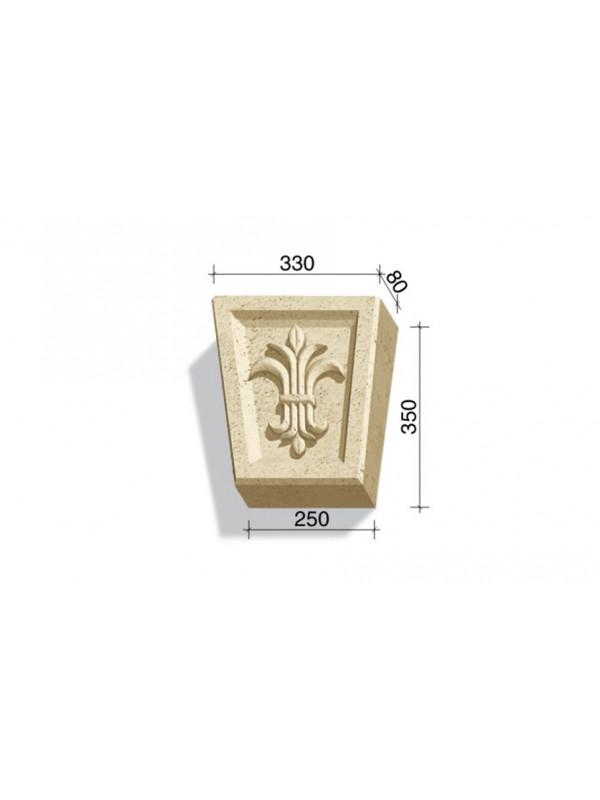 Замковый камень White Hills Тиволи 730-03, 350*330/250*80 мм