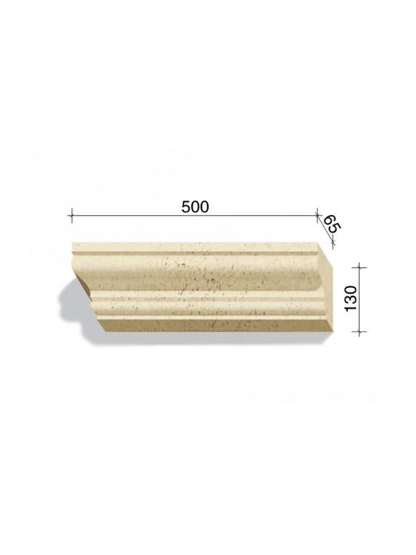 Угловой элемент для наличников и карнизов White Hills Тиволи 725-01, 500*65*130