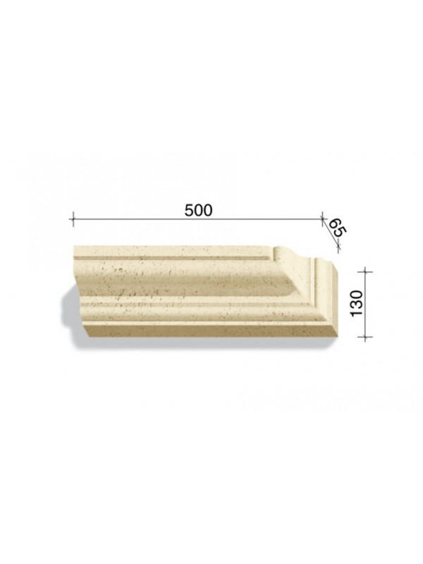 Угловой элемент для наличников и карнизов White Hills Тиволи 721-14, 500*65*130