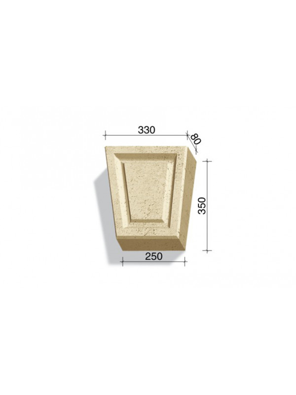 Замковый камень White Hills Тиволи 730-02, 350*330/250*80 мм