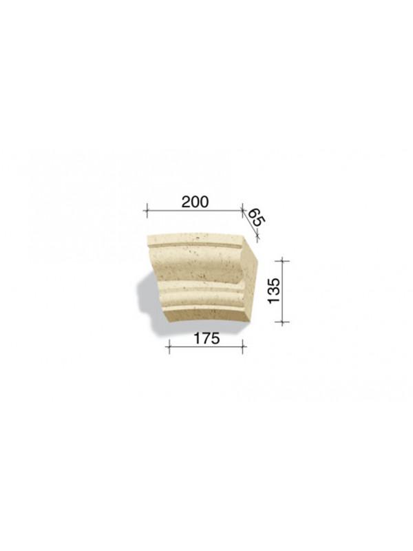 Арочный элемент White Hills 735-02, 135*200/175*65 мм