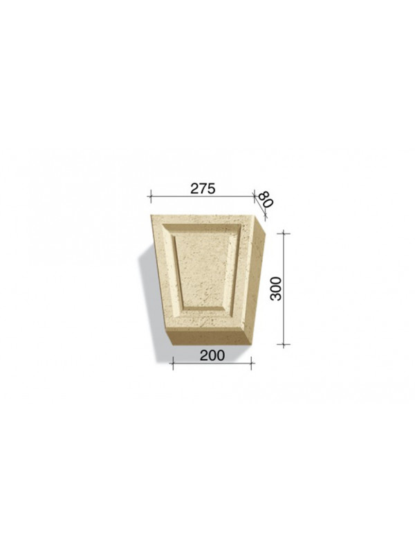 Замковый камень White Hills Тиволи 730-14, 300*275/200*80 мм