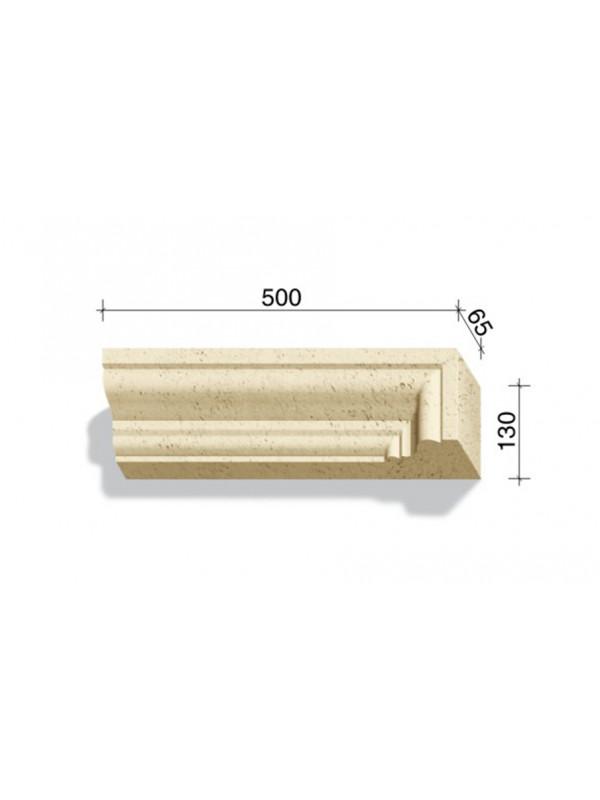 Угловой элемент для наличников и карнизов White Hills Тиволи 720-12, 500*65*130