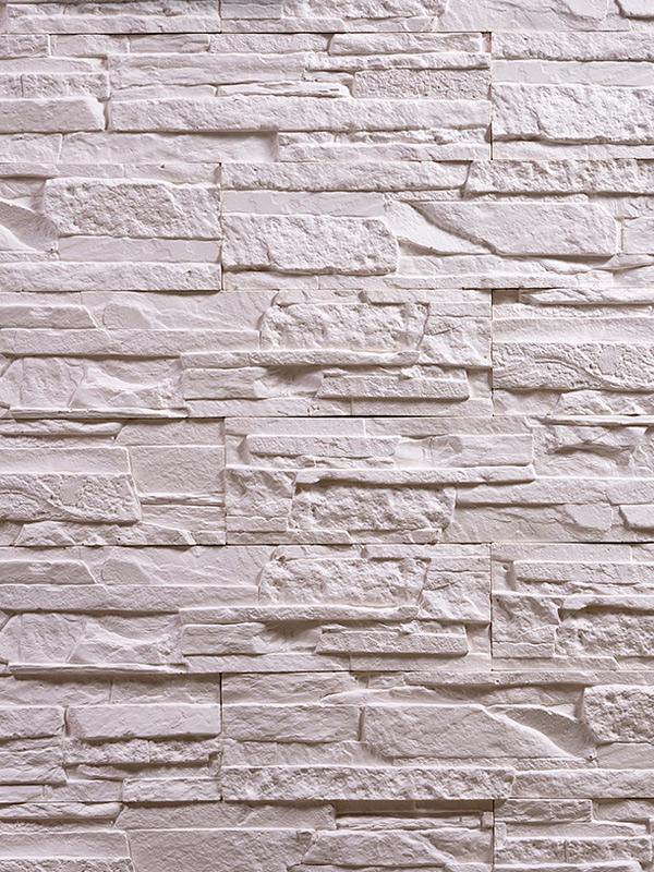 Гипсовый камень Сланец Белый