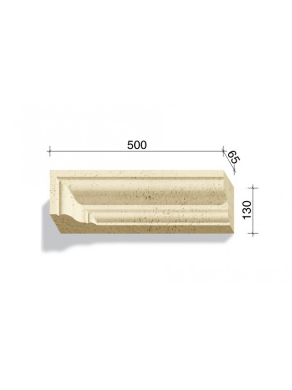 Угловой элемент для наличников и карнизов White Hills Тиволи 720-01, 500*65*130