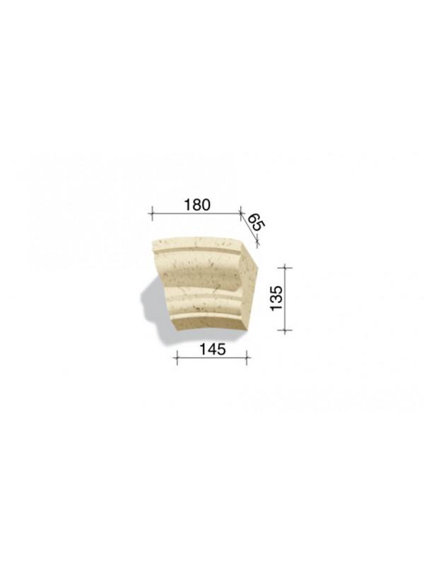 Арочный элемент White Hills 736-11, 135*180/145*65 мм