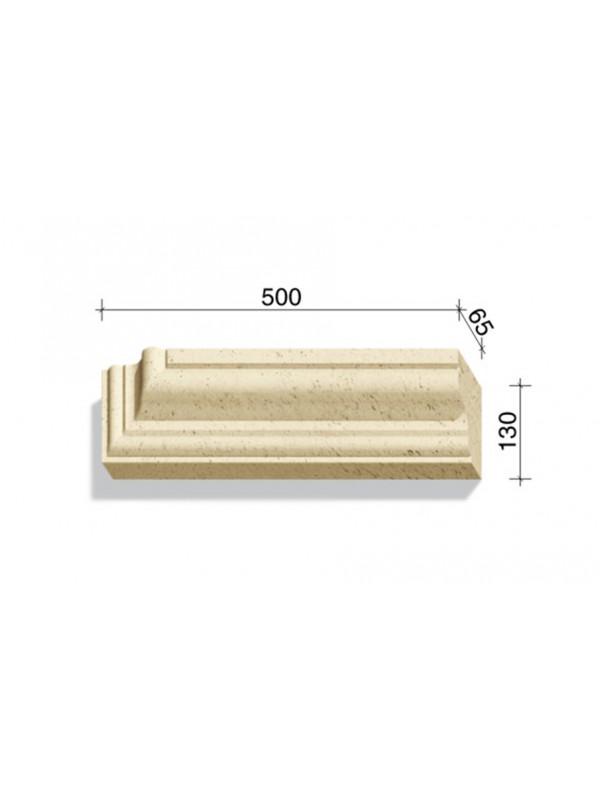 Угловой элемент для наличников и карнизов White Hills Тиволи 720-03, 500*65*130
