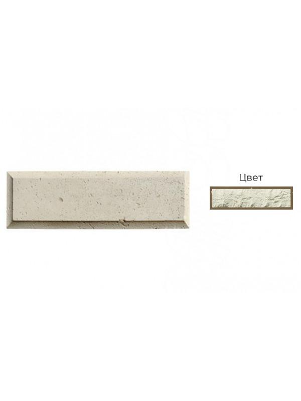 Рустовый камень White Hills 851-00 белый, 450*142*21-40 мм