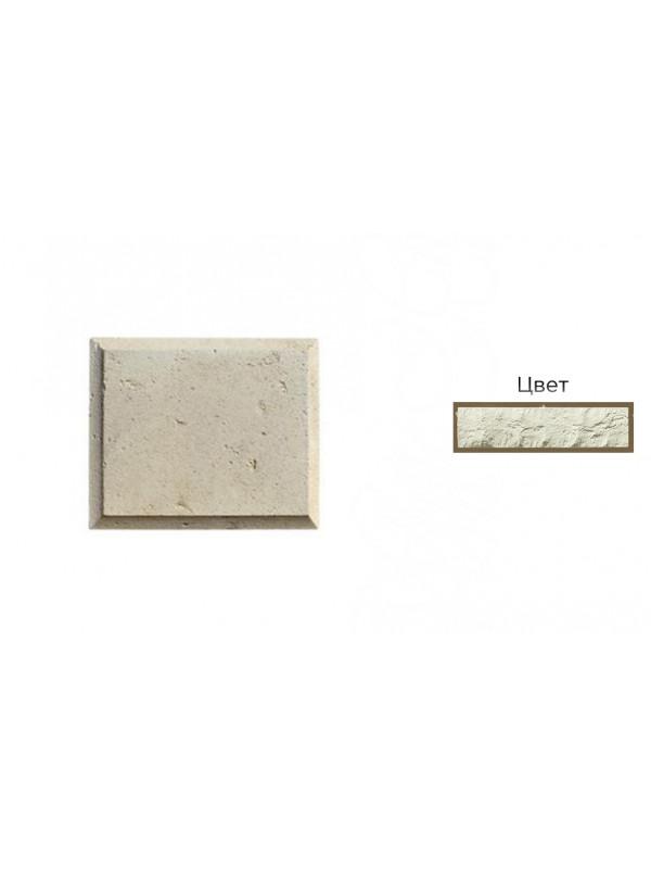 Рустовый камень White Hills 852-00 белый, 300*250*21-40 мм