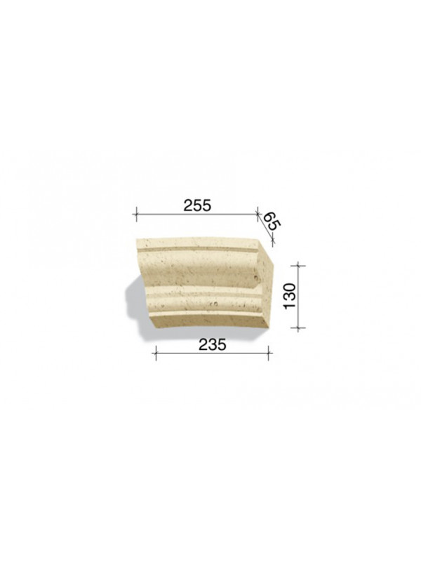 Арочный элемент White Hills 736-23, 130*255/235*65 мм