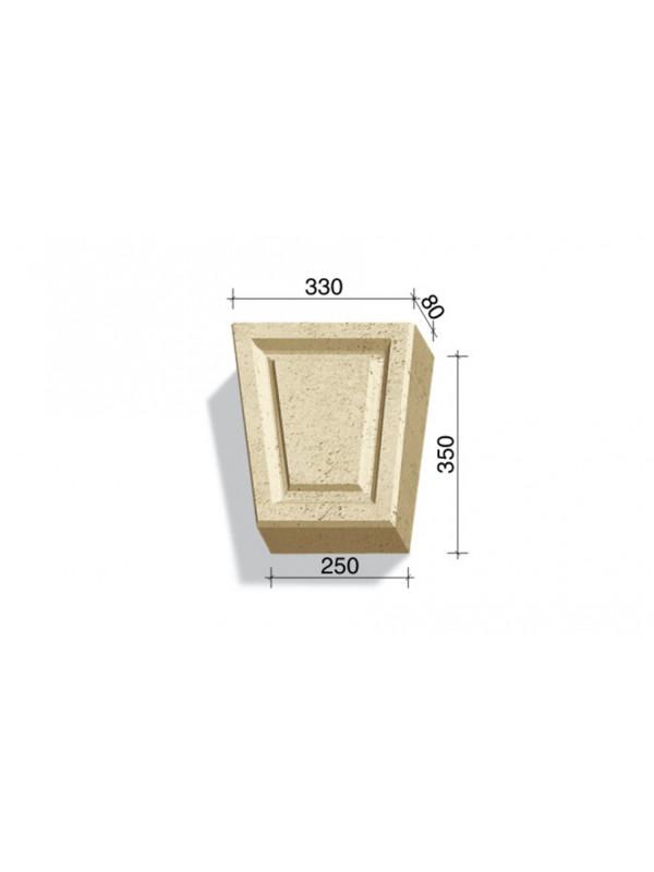 Замковый камень White Hills Тиволи 732-12, 350*330/250*80 мм