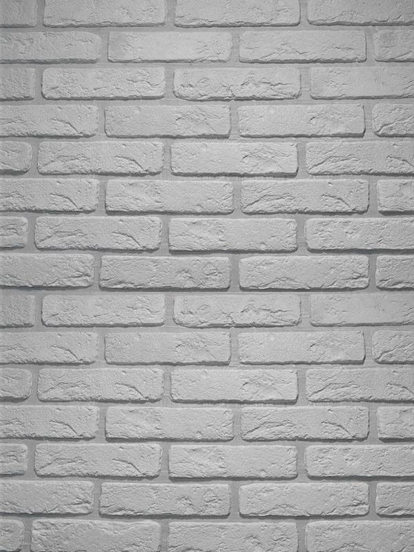 Гипсовая плитка под кирпич Антик Светло-серый