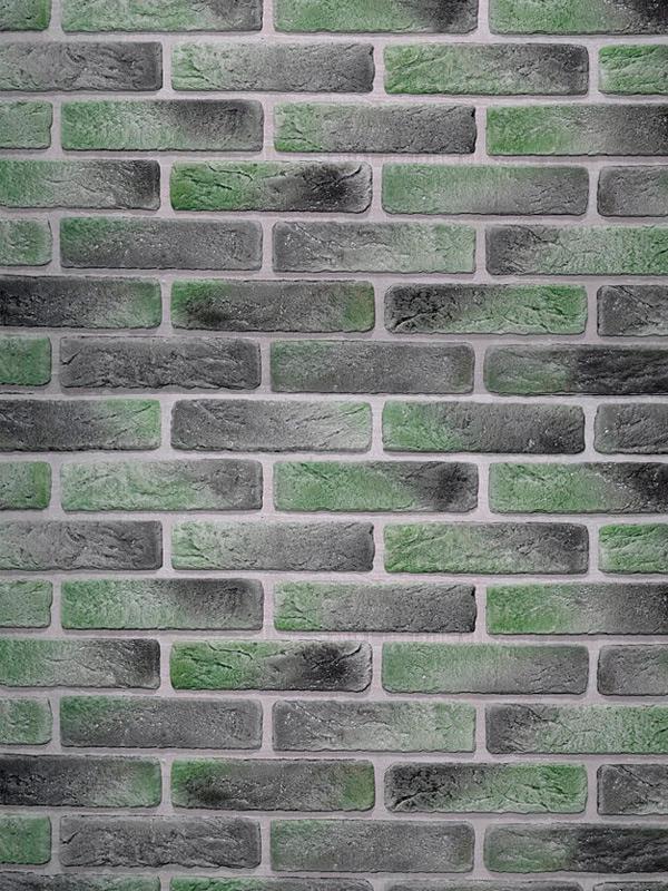 Гипсовая плитка под кирпич Антик Зеленый лофт