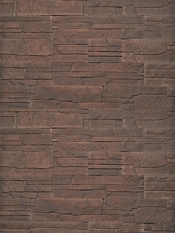Гипсовая плитка Сланец классический Коричневый