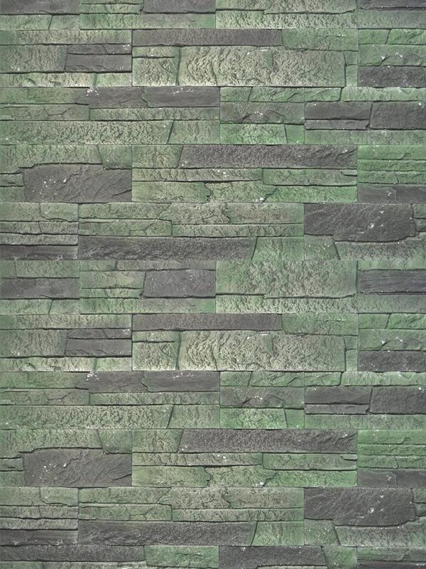 Гипсовая плитка Сланец классический Зеленый лофт