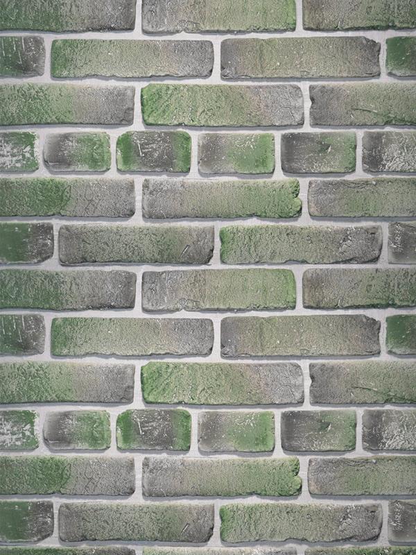 Гипсовая плитка под кирпич Зеленый лофт