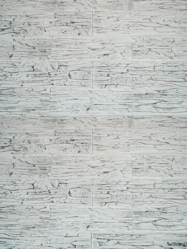 Гипсовая плитка Сланец тонкослойный Белая скала