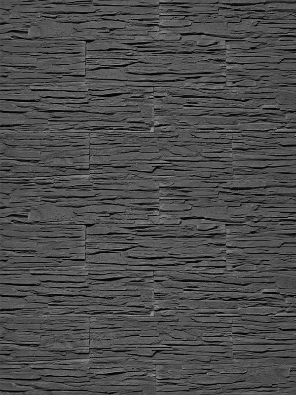 Гипсовая плитка Сланец тонкослойный Графит