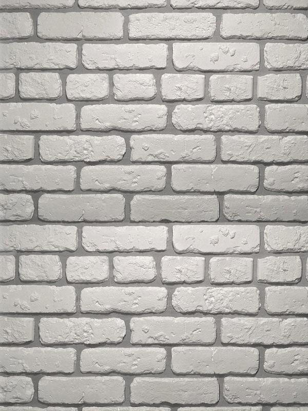 Гипсовая плитка под кирпич Выветренный Белый