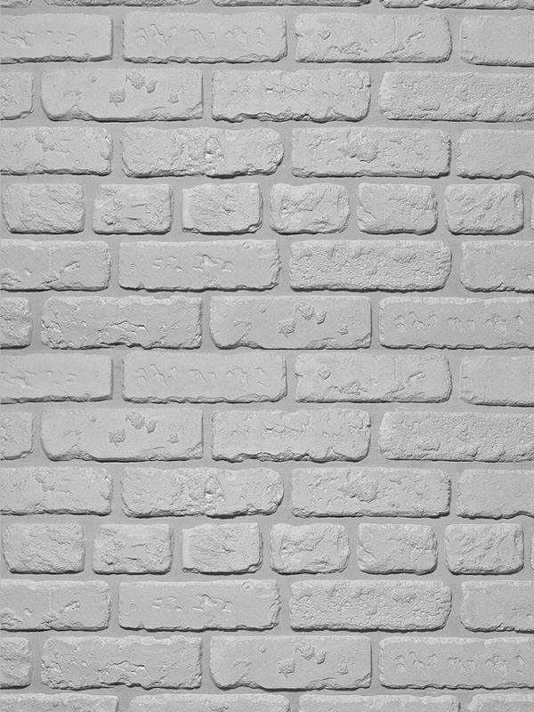Гипсовая плитка под кирпич Выветренный Светло-серый