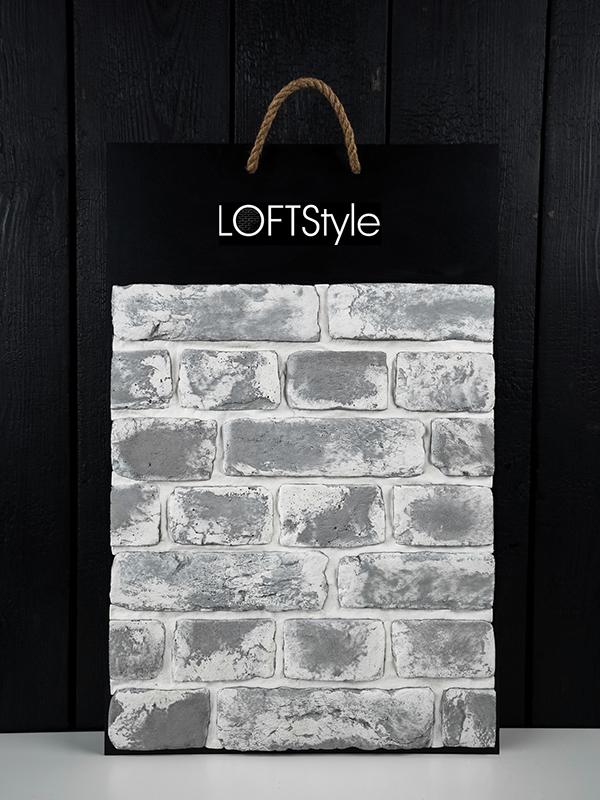 Декоративный кирпич в стиле Loft Black Snow