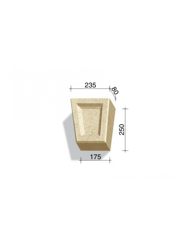 Замковый камень White Hills Тиволи 730-01, 250*235/175*80 мм