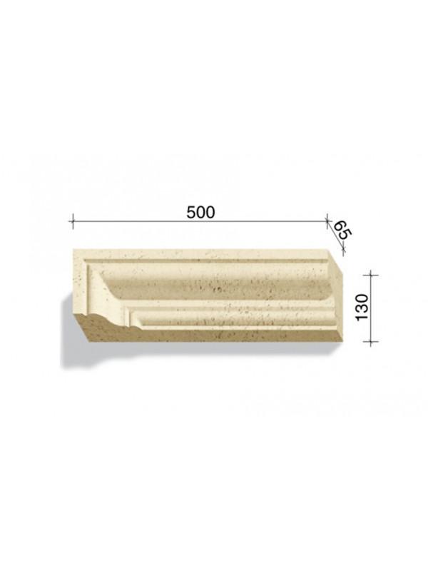 Угловой элемент для наличников и карнизов White Hills Тиволи 720-11, 500*65*130